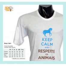 Camiseta com Desenho Cavalo Keep Calm