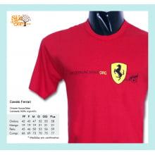 Camiseta com Desenho de Cavalo Ferrari