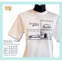 Camiseta com desenho de gato folgado