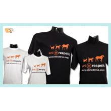 Camiseta desenho meio ambiente ani+respeito