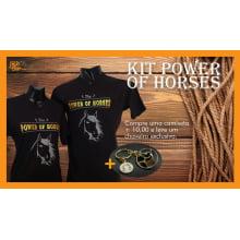 Kit Power Of Horses - Compre 1 camiseta + 10 reais e leve um chaveiro