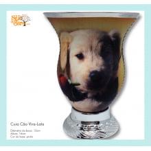 Cuia de chimarrão com imagem de cachorro vira-lata