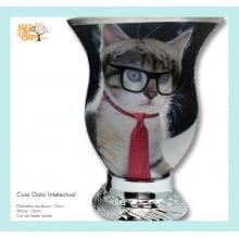 Cuia de chimarrão com imagem de gato