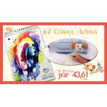 Kit Criança Arteira | Compre um bloco de desenho + Estojo com 24 lápis de cor com até 15% de desconto