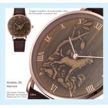 Relógios de Pulso Masculino com Desenho de Lobo