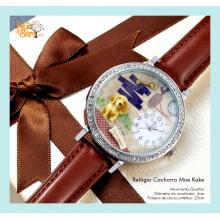 Relógio de Pulso Feminino Cachorro Vira-Lata Miss Keke