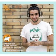 Camiseta com Desenho 100% Vegano