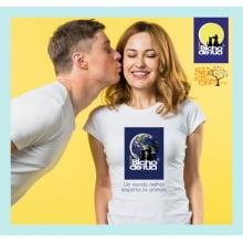 Camiseta da ONG Bicho de Rua | Um Mundo Melhor Respeita os Animais