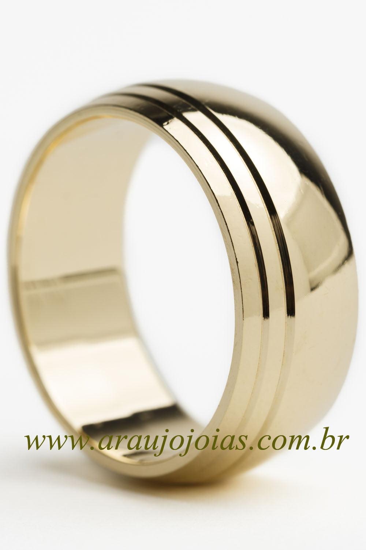 Aliança de casamento em ouro 18K 750 Mar Alto