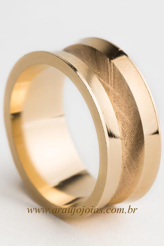 Aliança de casamento em ouro 18K 750 Dádiva