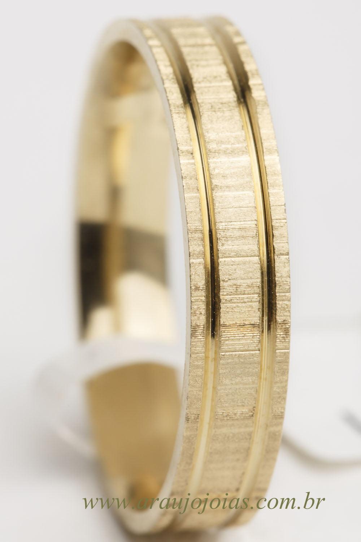Aliança de casamento em ouro 18K 750 Dois
