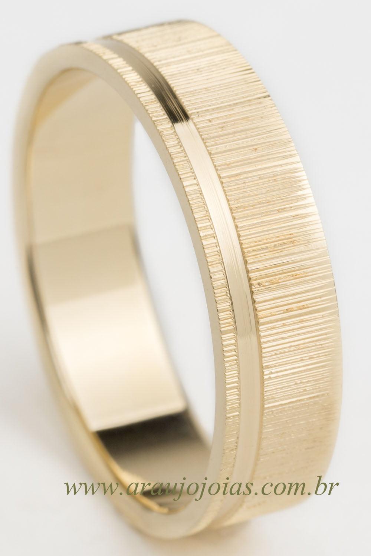Aliança de casamento em ouro 18K 750 Gardenia