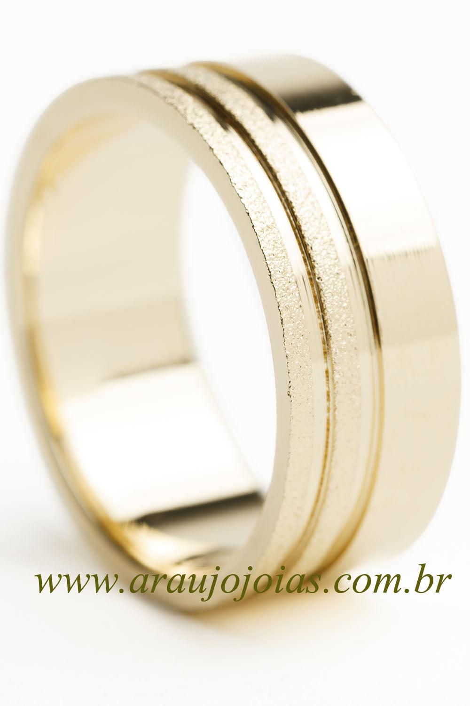 Aliança de casamento em ouro 18K 750 Segredos