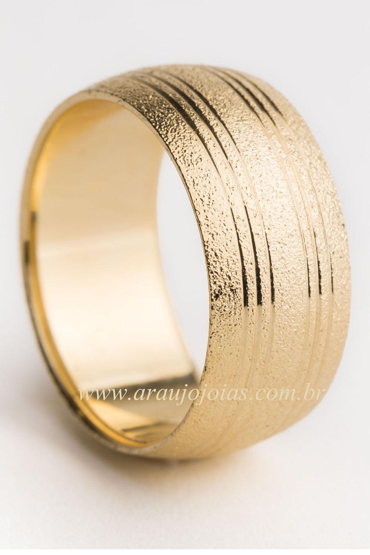 Aliança de casamento em ouro 18K 750 Amor Perfeito