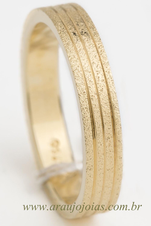 Aliança de casamento em ouro 18K 750 Chama
