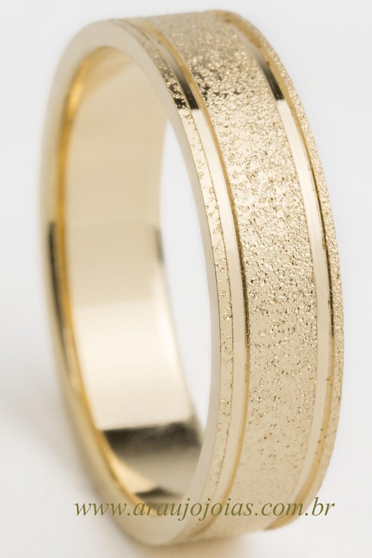 Aliança de casamento em ouro 18K 750 Sinonímia