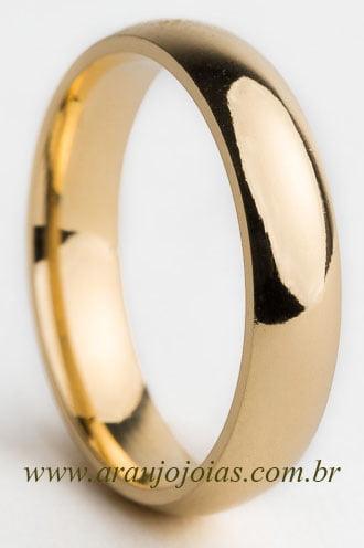 Aliança de casamento em ouro 18K 750 Tradição
