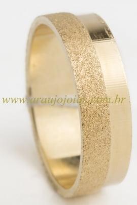 Aliança de casamento em ouro 18K 750 Marié