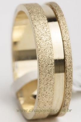 Aliança de casamento em ouro 18K 750 Enlace
