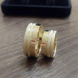 Aliança em Ouro 18 K Personalizada com 16 gramas AJC 003