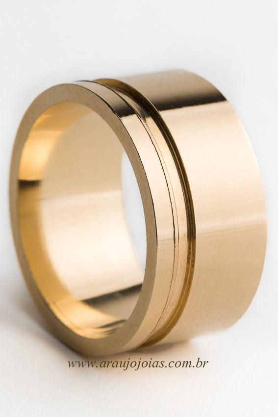 Aliança de casamento em ouro 18K 750 Fascínio