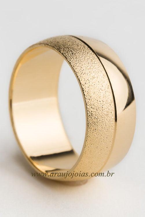 Aliança de casamento em ouro 18K 750 Classic