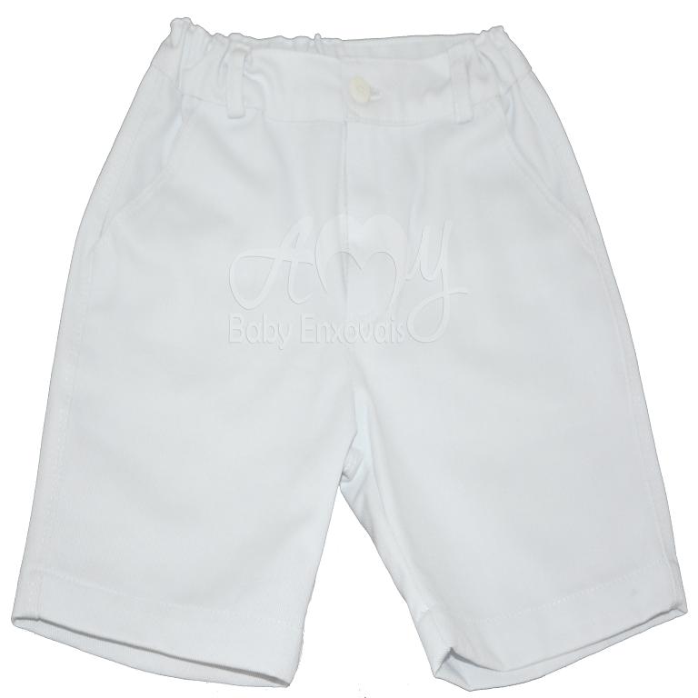 Bermuda infantil brim branca - 2 anos
