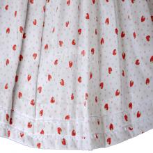 Vestido renda renascença  moranguinho - 2 anos
