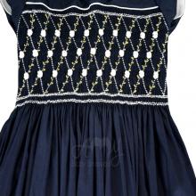 Vestido casinha de abelha azul marinho 3 anos