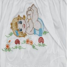 Calcinha bordada bebê feliz
