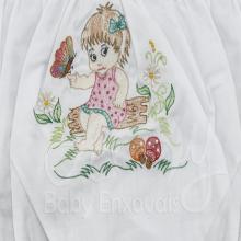 Calcinha bordada menina no jardim