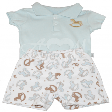 Conjunto body polo manga curta baby blue - M