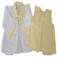 Conjunto pagão floral amarelo 4 peças