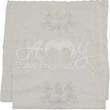 Conjunto camiseta e fralda bordada infantil -  Rechilieu branca