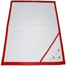Saída de maternidade com manta rococó vermelha
