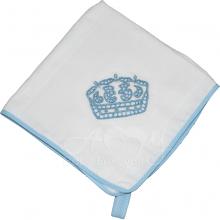Enxoval rechilieu coroa azul - 4 peças