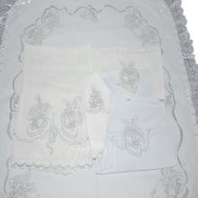 Enxoval rechilieu sapatinho branco - 5 peças