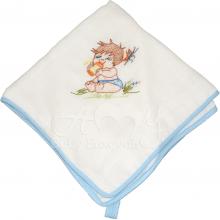 Presente para recem nascido bordado bebê menino - 4 unidades