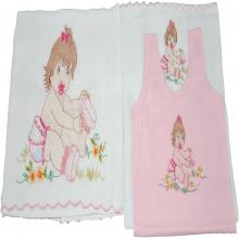 Presente para recem nascido bordado bebezinha - 3 unidades
