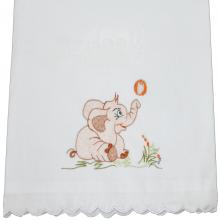 Presente para recem nascido bordado elefantinho - 4 peças