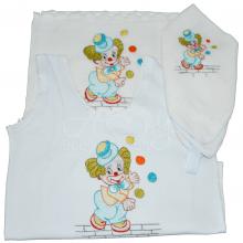 Presente para recem nascido  bordado palhacinho - 3 peças