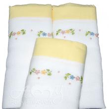Presente para recem nascido floral amarelo - 6 peças