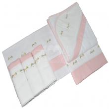 Presente para recem nascido floral rosa - 6 peças