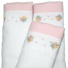 Presente para recem nascido rococó colorido rosa - 6 peças