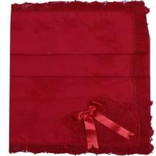 Manta renda renascença laço vermelho