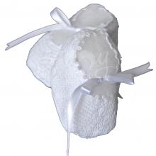 Sapatinho renda renascença branco - 0 a 3 meses
