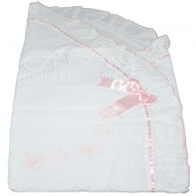 Saco manta para bebê em renda renascença rosa