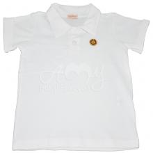 Camiseta polo manga curta branca - 4 anos