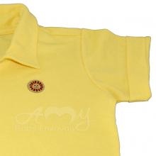 Camisa polo manga curta amarela - 4 anos