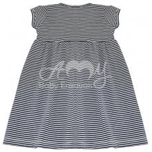 Vestido em malha listra marinho - 2 anos